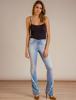 Calça Jeans Flare Com Recorte Desfiado Equus