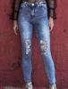 Calça Jeans skinny de cintura alta