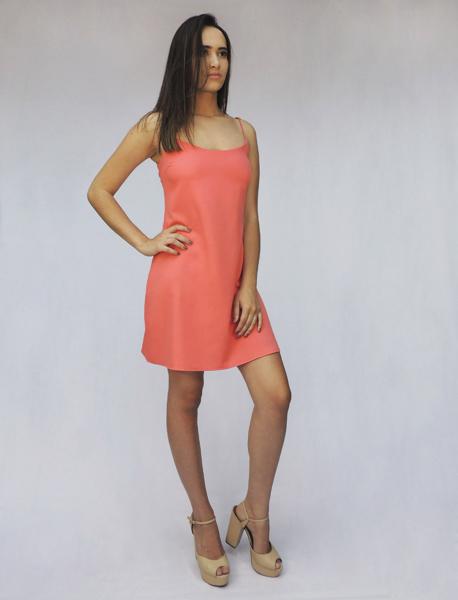 Vestido Lingerie  Decote Renda Costas