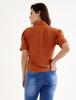 Camisa manga curta  bolsos com lapela